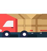 Ícone de um caminhão que simboliza mudança